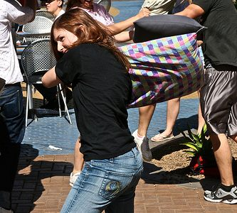Pillow Fight flashmob in Tempe