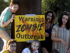 Warning: Zombie Outbreak sign