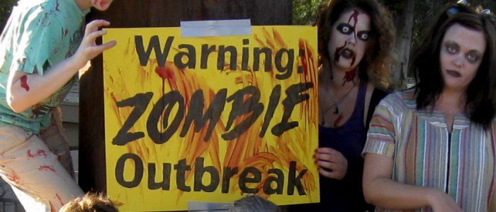 Zombathalon – Zombie race training flash mob