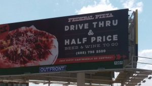 Federal Pizza's Billboard at Central & Camelback