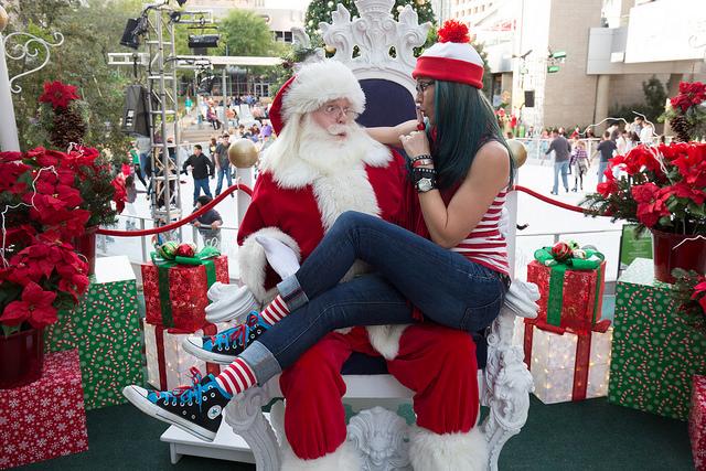 Where's Waldo meets Santa and a T-Rex