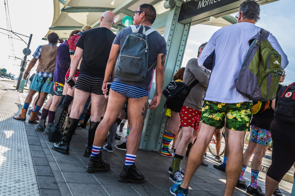 phoenix no pants riders at the light rail